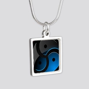 BDSM Silver Square Necklace