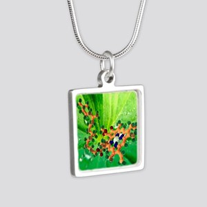 Chlorophyll molecule - Silver Square Necklace