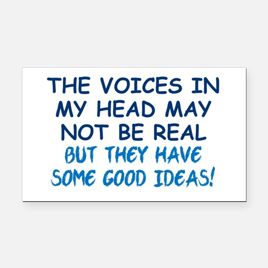 Voices in my Head Rectangle Car Magnet