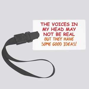 Voices in my Head Large Luggage Tag
