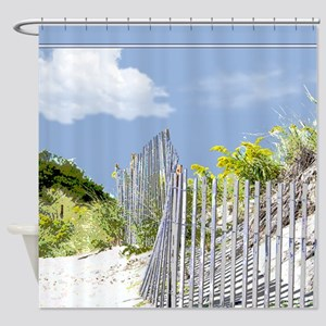 Beach Fence and Dune Shower Curtain