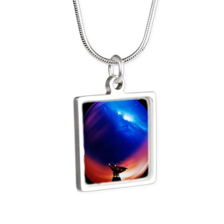 na - Silver Square Necklace