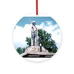 WW II Monument Ornament (Round)