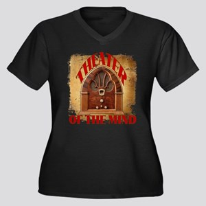 Theater Of The Mind Women's Plus Size V-Neck Dark
