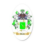Barby Oval Car Magnet