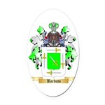 Barbuto Oval Car Magnet