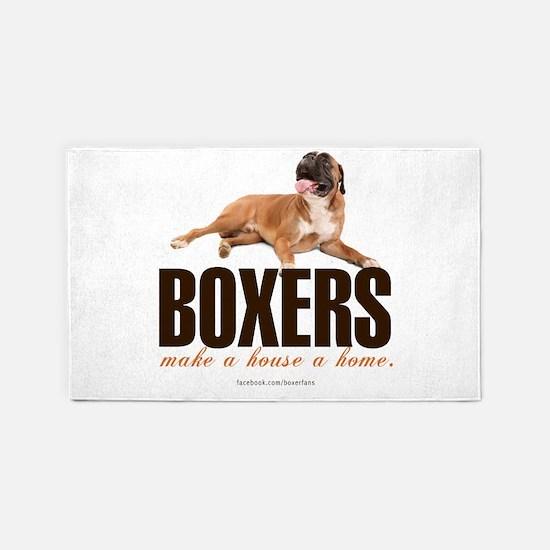 Boxers Make a House a Home 3'x5' Area Rug