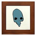 SKULL 001 BLUE Framed Tile