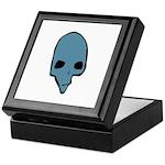 SKULL 001 BLUE Keepsake Box