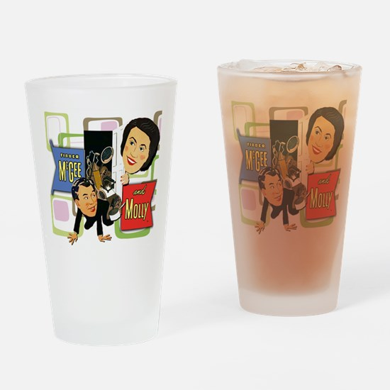 Fibber McGee And Molly Drinking Glass