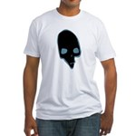 SKULL 001 BLUE Fitted T-Shirt