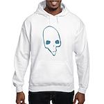 SKULL 001 BLUE Hooded Sweatshirt
