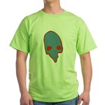 SKULL 001 BLUE Green T-Shirt
