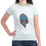 SKULL 001 BLUE Jr. Ringer T-Shirt
