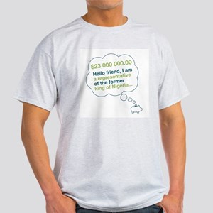 Spam Dream Piggy Ash Grey T-Shirt