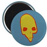 SKULL 001 BLUE Magnet