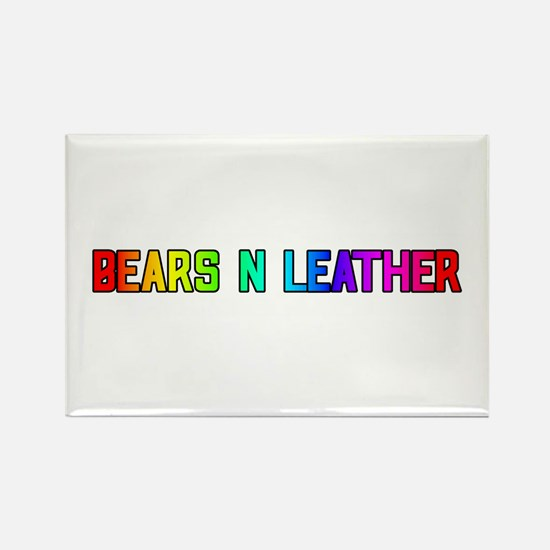 BEARS_N_LEATHER3 Rectangle Magnet
