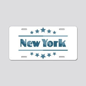 New York Aluminum License Plate