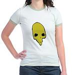 SKULL 001 GREEN Jr. Ringer T-Shirt