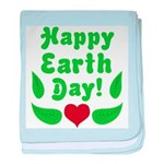 Happy Earth Day baby blanket