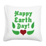 Happy Earth Day Square Canvas Pillow