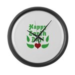 Happy Earth Day Large Wall Clock