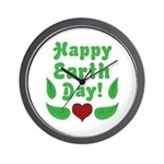 Happy Earth Day Wall Clock