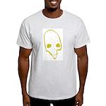 SKULL 001 GREEN Ash Grey T-Shirt