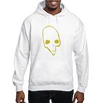 SKULL 001 GREEN Hooded Sweatshirt