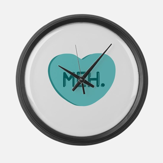 Meh Candy Heart Large Wall Clock