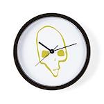 SKULL 001 GREEN Wall Clock