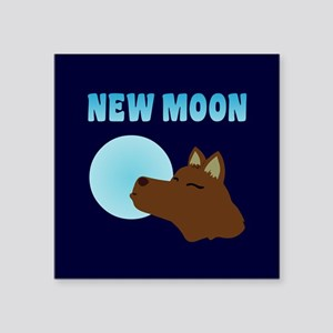 "New Moon Jacob Wolf Square Sticker 3"" x 3"""