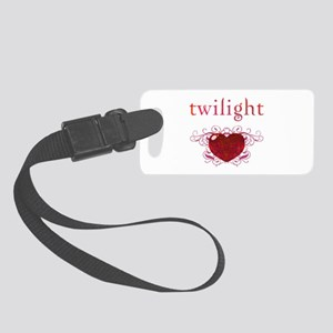 Twilight Fire Heart Small Luggage Tag