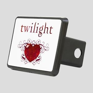 Twilight Fire Heart Rectangular Hitch Cover
