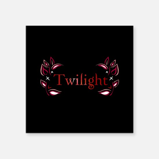 "Twilight Floral Square Sticker 3"" x 3"""