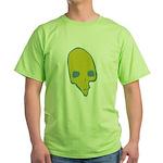 SKULL 001 GREEN Green T-Shirt