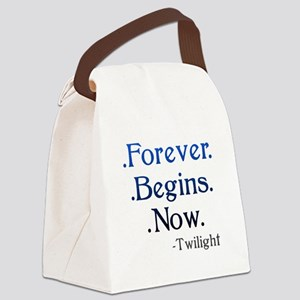 Forever Begins Now Canvas Lunch Bag