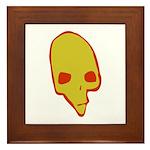 SKULL 001 GREEN Framed Tile