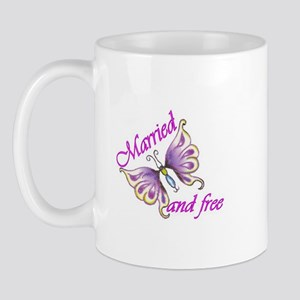 Married and Free Mug