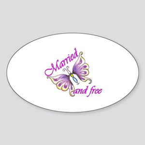 Married and Free Oval Sticker