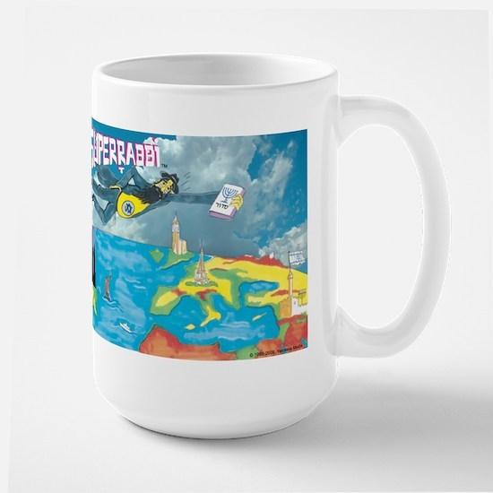 Superrabbi (super Rabbi) Large Mug Mugs