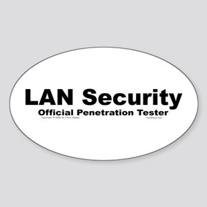 Security/Tester. Oval Sticker