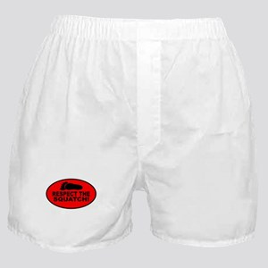 Red RESPECT THE SQUATCH! Boxer Shorts
