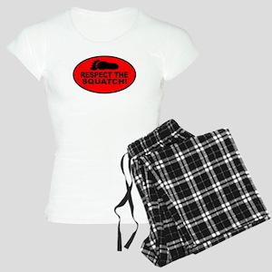 Red RESPECT THE SQUATCH! Women's Light Pajamas