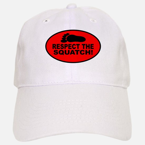 Red RESPECT THE SQUATCH! Baseball Baseball Cap