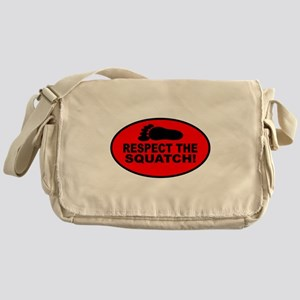 Red RESPECT THE SQUATCH! Messenger Bag