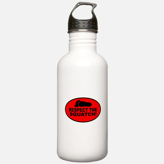 Red RESPECT THE SQUATCH! Water Bottle