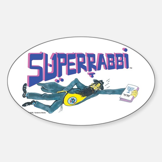 Superrabbi (SUPER RABBI) Oval Decal