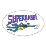 Superrabbi (SUPER RABBI) Oval Sticker