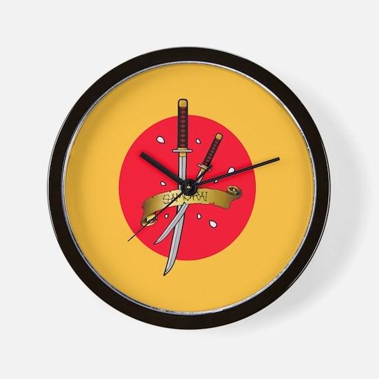 Sakura Samurai Wall Clock